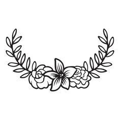 Silhouette Design Store: floral laurel
