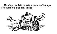 """René Magritte, """"Les mots et les images (detail)"""", 1929 (Before Joseph Kosuth)"""