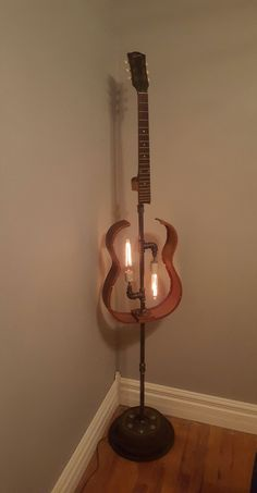 Guitar  Floor Lamp #guitar #repurposeditems #customlighting