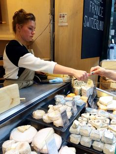 Borough Market is full of cheese.  And you can sample it!