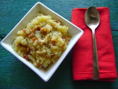 Meethe Chawal - A simple, sweet and sticky rice dessert