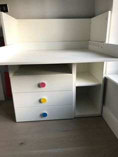 6750bdc56665 Ikea STUVA changing table/desk with 3 drawers, white, good condition 1yr old
