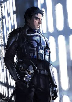 Poe Dameron: Best pilot in The First Order Coz Dark side uniform is much much cooler and fashionable~