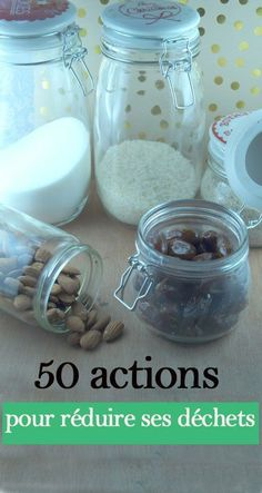 50 actions to reduce household waste – zero waste – The world of Just … - The source of information passes through us Waste Zero, Reduce Waste, Green Living Tips, Action, Upcycled Crafts, Green Life, Justine, Sustainable Living, Frugal