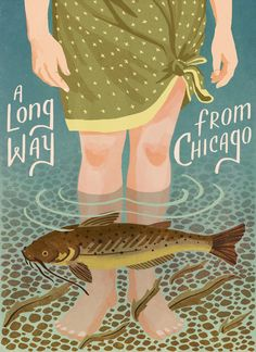 :: A Long Way from Chicago- book cover illustration Caleb Luke Lin ::