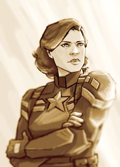 Cap!Peggy is love. Cap!Peggy is life. By roman on tumblr