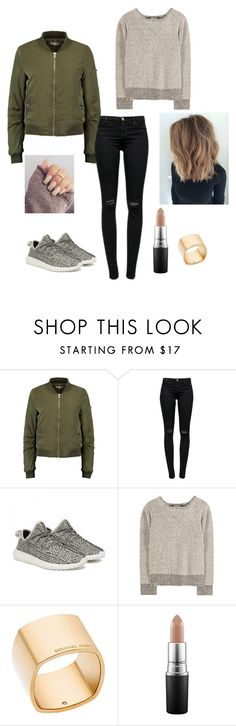 """Yeezy Shoes"" by misschocolate14 ❤ liked on Polyvore featuring J Brand, adidas Originals, Michael Kors and MAC Cosmetics"