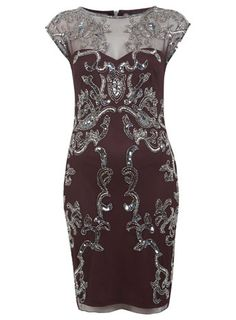 Burgundy Bead Body Mini Dress - Miss Selfridge price: £79.00