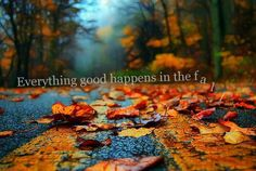 Everything good happens in the fall...