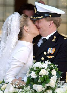 Princess Máxima and Willem-Alexander, Prince of Orange, of the Netherlands; 2 February 2002