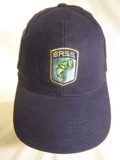 adf640d680c Official B.A.S.S. Bass Anglers Sportsman Society Hat Cap Adult Strapback  Fishing  BASS  fishing Bass