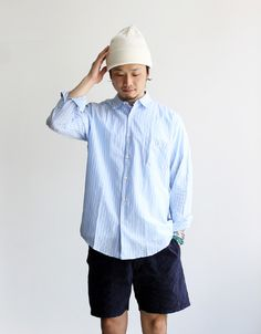 OUR LEGACY Jumbo Shirt -Baby Stripe