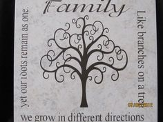 granddaughter qoutes and poems | Family Tree Quotes Poems Tan tile with family tree poem