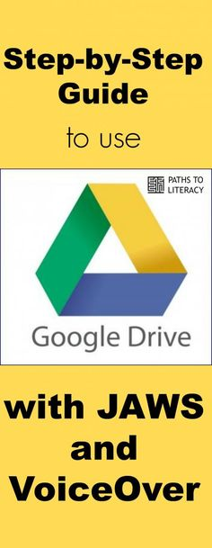 Step-by-step guide to use Google Drive with JAWS and VoiceOver for screenreaders