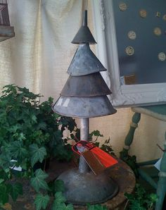 DIY ChristmasDecor from Old Funnels