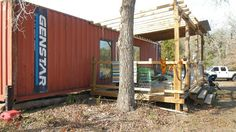 Shipping Container Homes: 40ft Shipping Container Family Home - Wendy Bowman - Fords Prarie, Texas,