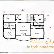 تصميم منزل صغير دور واحد House Map Model House Plan House Plans