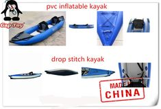 Family Tandem kayak is designed to give to give enough room for 2 adults, 1 child or some extra baggage when touring 5 Oceans, Inflatable Kayak, Boat Covers, Bow Bag, Sit On Top, Person Sitting, Tandem, Paddle Boarding, Baggage