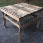 Pallet Patio Coffee Table / Potting Table