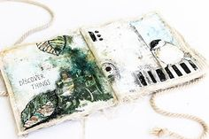 Scrapmanufaktur: Shabby Chic Canvas Album with the magic of photo transfer - inner pages