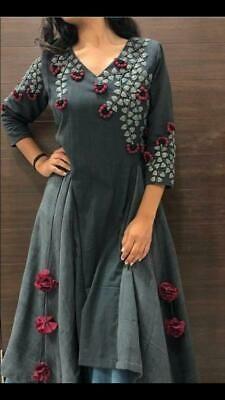 Indian Style kurta dress With palazzo newTopTunic Set blouse Combo Ethnic Bottom Designer Kurtis, Designer Anarkali, Kurta Designs Women, Salwar Designs, Printed Kurti Designs, Kurti Embroidery Design, Embroidery Dress, Dress Neck Designs, Blouse Designs