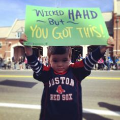 Running Signs Displayed By Kids At A Marathon Running Signs, Running Humor, Running Quotes, Running Motivation, Marathon Signs, Marathon Posters, Shin Splints, Boston Sports, Boston Strong