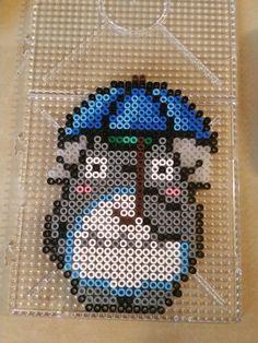 Totoro perler beads by Sara Rodriguez