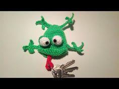 Rana Portachiavi Amigurumi Tutorial - Frog Keycover Crochet - LLavero Rana Crochet - YouTube