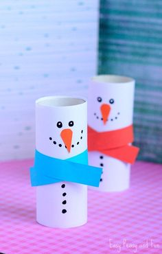 Paper Roll Snowman Craft for Kids