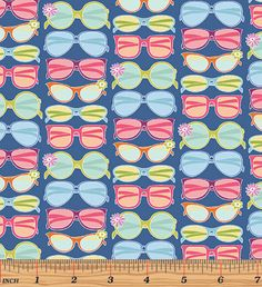 """15 Yards in Stock/Click on """"Fabric Cut"""" - Benartex - Front Porch - Shades on Blue by Cherry Guidry for Contempo Studio - 100% Cotton"""