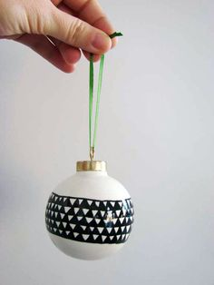 DIY handpainted Christmas ornaments