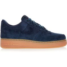 Nike Air Force 1 07 suede sneakers, Women's, Size: 10.5 ($69) ❤ liked on Polyvore featuring shoes, sneakers, nike, suede shoes, nike footwear, nike sneakers, navy blue shoes and suede leather shoes