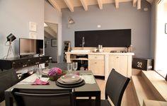 La cucina e la sala da pranzo