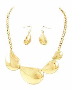 Chunky Gold Tone Side Swept Tear Drop Teardrop Statement Necklace & Earring Set Fashion Jewelry Unbranded,http://www.amazon.com/dp/B00HERLC36/ref=cm_sw_r_pi_dp_DKC1sb15PCKHEYSW