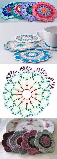 HOOK-Muster, Gant Regular Desert Jeans (Blau) GantGant stern-stricken Mehr stern-stricken Mehr Hey-Sign Kaminholzkorb, 5 mm, braunmeliert Hey SignHey Sign Knitting Stitch You Should Learn Easily Crochet Braid Pattern, Crochet Mandala Pattern, Crochet Circles, Crochet Motifs, Crochet Flower Patterns, Crochet Diagram, Crochet Chart, Crochet Squares, Knitting Patterns