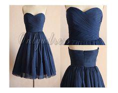 Navy blue bridesmaid dresses short bridesmaid by OnlyuDress, $90.00