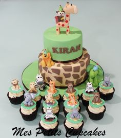 Jungle Safari Cake and Jungle Safari Cupcakes