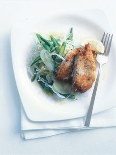 Crumbed chilli chicken with winter slaw by Donna Hay