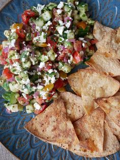 FRISK SOMMERSALAT Tapas, Dip, Mexican, Ethnic Recipes, Food, Salsa Music, Dips, Meals, Mexicans