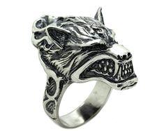 grim Reaper skull Ring for unisex made of sterling silver 925 Gothic biker Knights Templar Ring, Sterling Silver Mens Rings, 925 Silver, Shell, Gothic Rings, Biker Rings, Silver Work, Plaque, Beautiful Rings