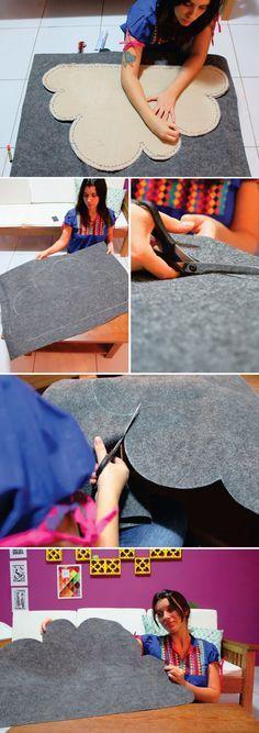 Como fazer um tapete de nuvem