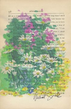 book page painting