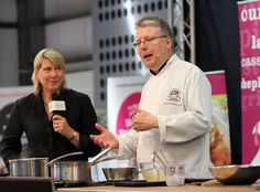 Festival patron Richard Hughes cooking demonstration at the Royal Norfolk Show ground