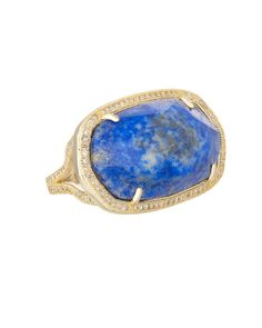 Kendra Scott Pave Oval Cocktail Ring in Lapis