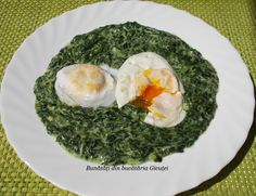 Stevia, Jacque Pepin, Romanian Food, Frugal, Spinach, Food And Drink, Eggs, Cooking, Breakfast
