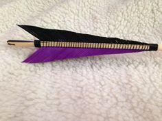 Bound medieval style English longbow arrow