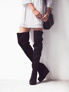 Jeffrey Campbell + Free People Mind and Matter Over the Knee Boot at Free People Clothing Boutique