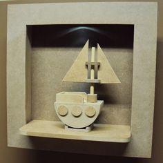 Luartebaby Artesanato: Nicho quarto bebe com led e barco decorativo porta...