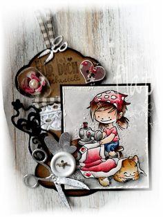 ♥ Flati s Stempelwelt ♥: Garnspulen Tag