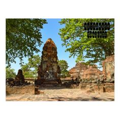 Ayutthaya is a city in Thailand, about 80 kilometers north of Bangkok. It was capital of the Kingdom of Siam, and a prosperous international trading port, from 1350 until razed by the Burmese in Ayutthaya Thailand, Buddhist Temple, Archaeological Site, Burmese, Old City, Postcard Size, Bangkok, Monument Valley, Mount Rushmore